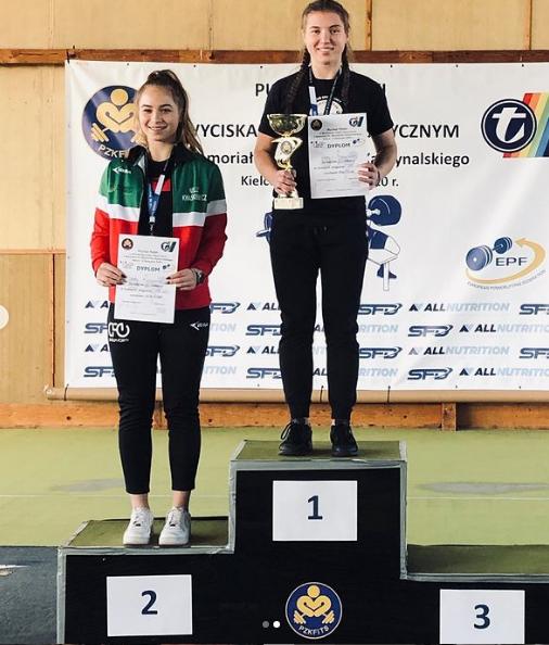 Patrycja Buczyńska zwyciężczyni IX Pucharze Polski w Kielcach w kategorii 63 kg do lat 18