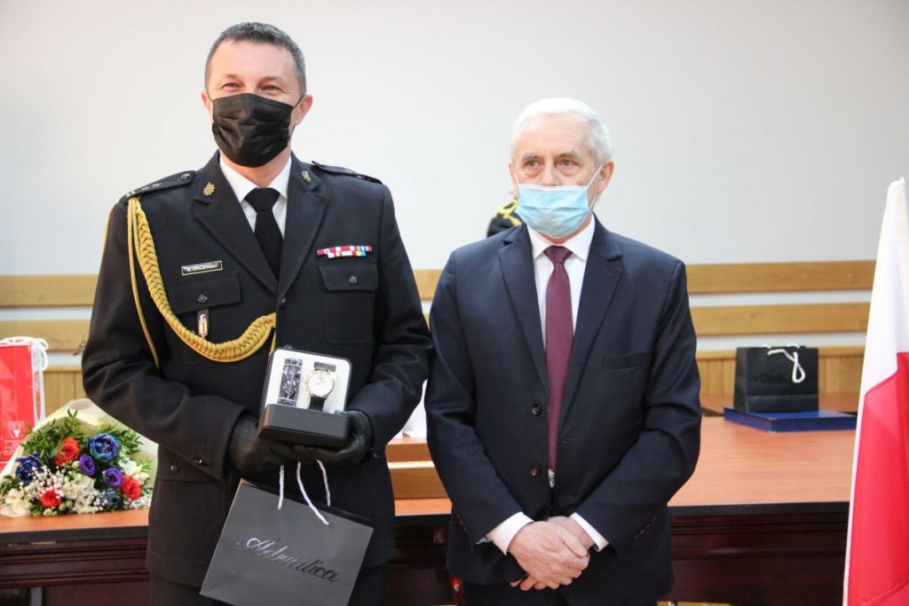 Pożegnanie Komendanta KPPSP w Zambrowie bryg. Macieja Krajewskiego